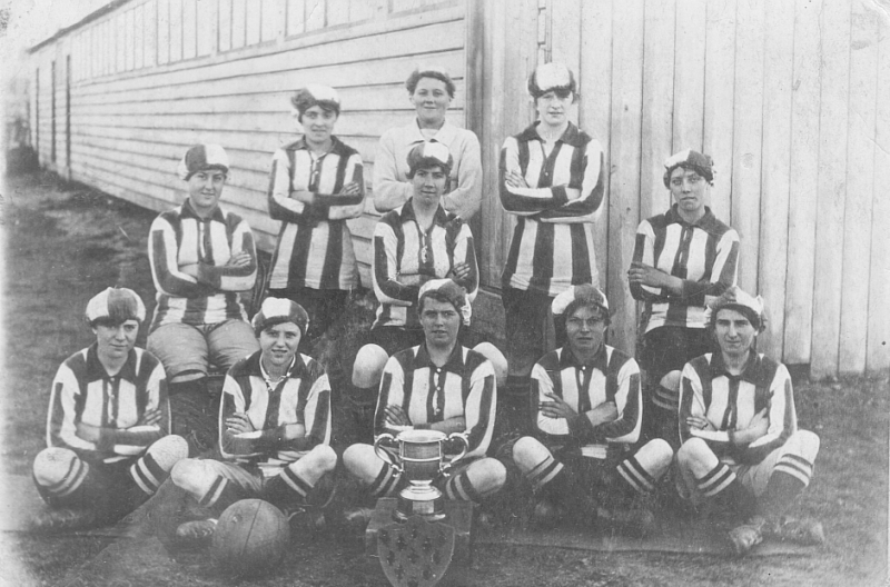 Blyth Spartans with Alfred Wood cup